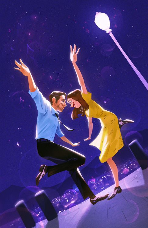 happy new year! enjoy this la la land fanart.