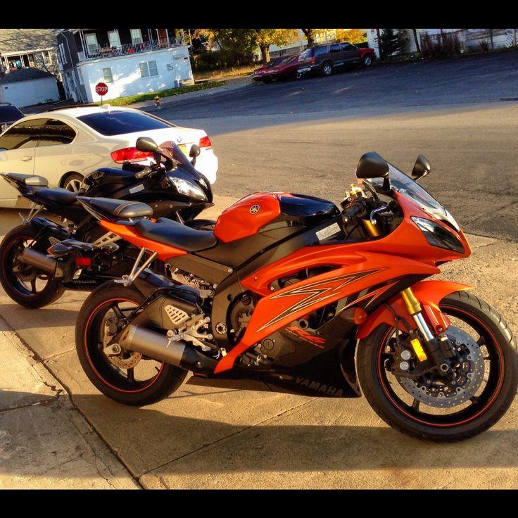 2009 Yamaha R6 Orange/Black. It's Brian's new bike!