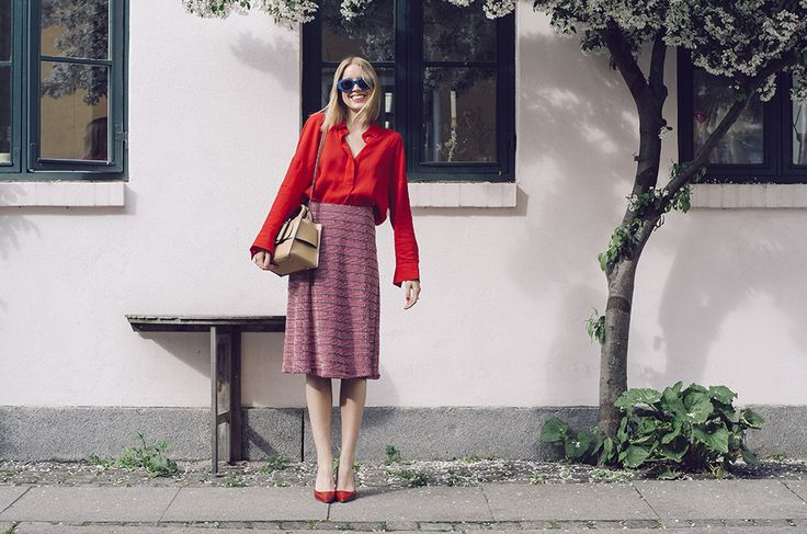 Shirt from COS, skirt from Nue Notes, sunglasses from Marc Jacobs, bag from BOYY and shoes from Uterque.  Photo by: Nikol Herec Follow me on BloglovinandInstagram