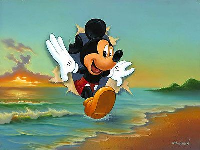Mickey Mouse - Mickey's Grand Entrance - Jim Warren - World-Wide-Art.com - $650.00