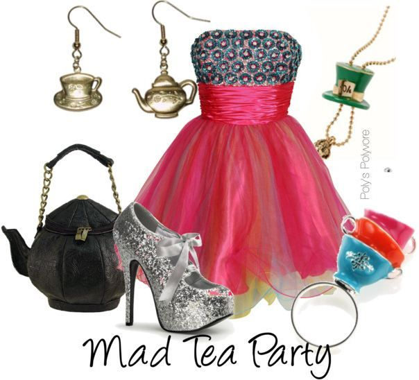 I love the idea of the purse! Mad Tea Party outfit!