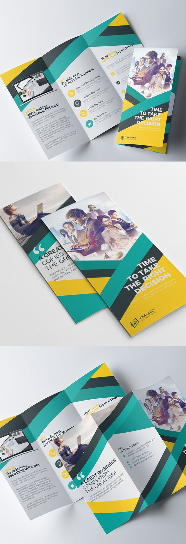 Corporate Tri fold Colorful Brochure Design