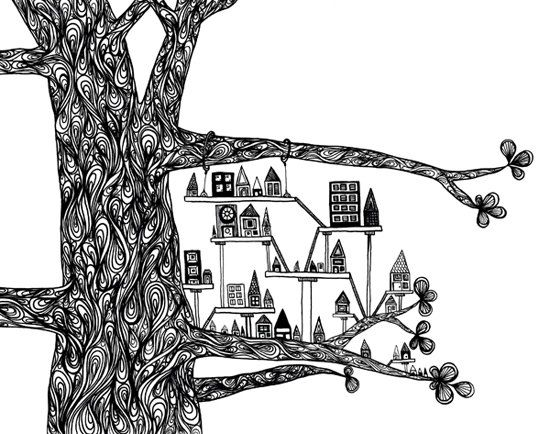 Treehouse City print