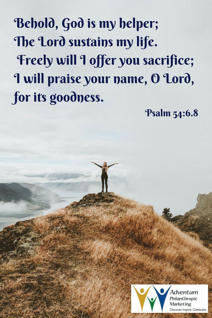 September 9, 2017 – Psalm 54:6.8