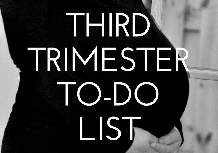 Simple Baby's Third Trimester To-Do List: tasks to think about for the your final trimester. Links for first and second trimester included, too.