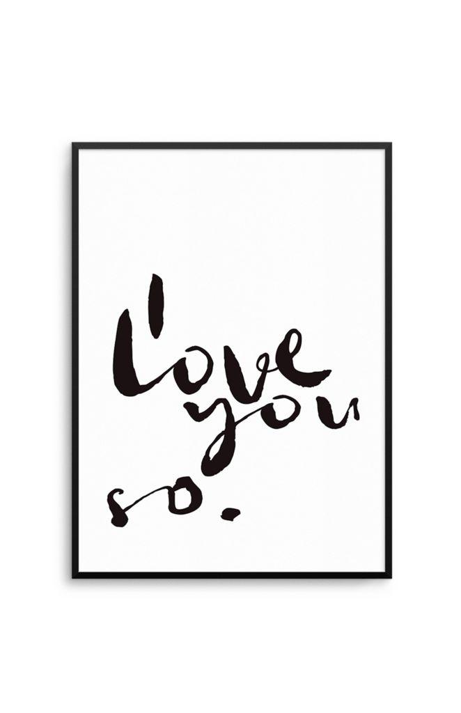 Olive et Oriel I love you so print