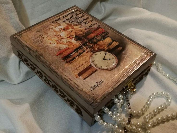 decoupage - wooden box