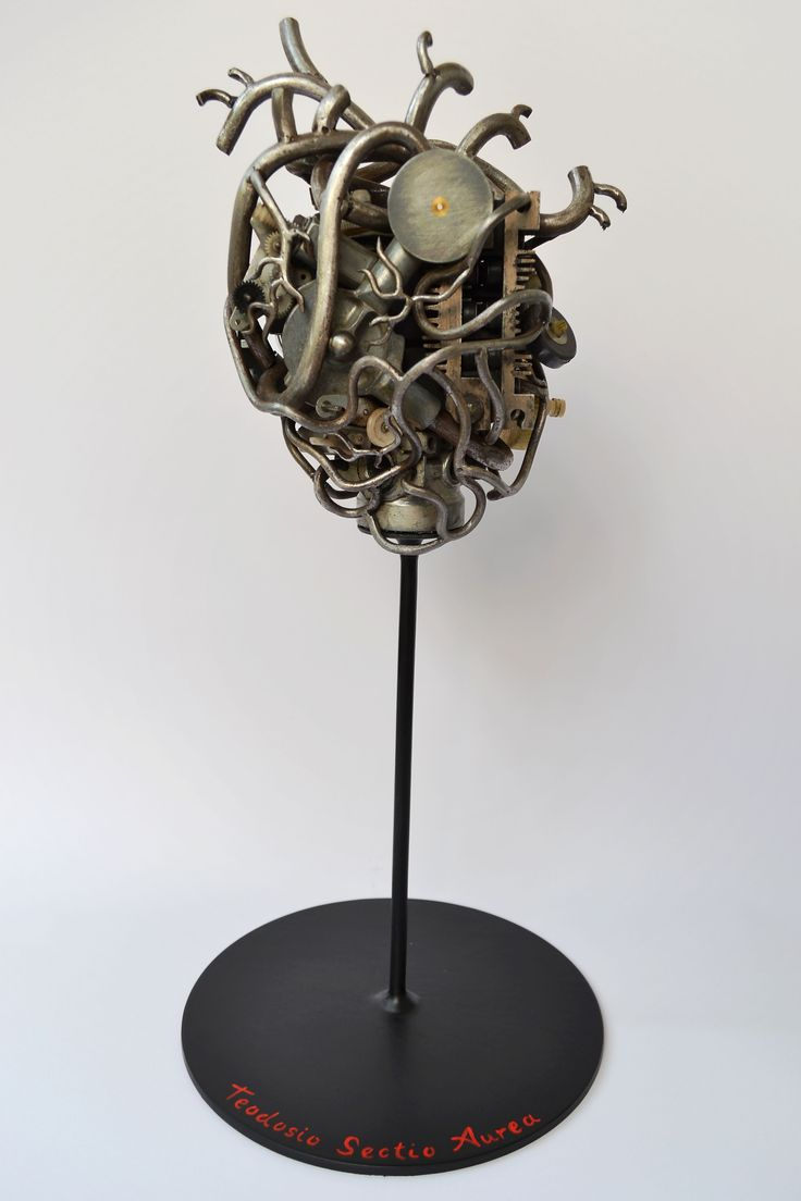 Mechanical human heart...trash art