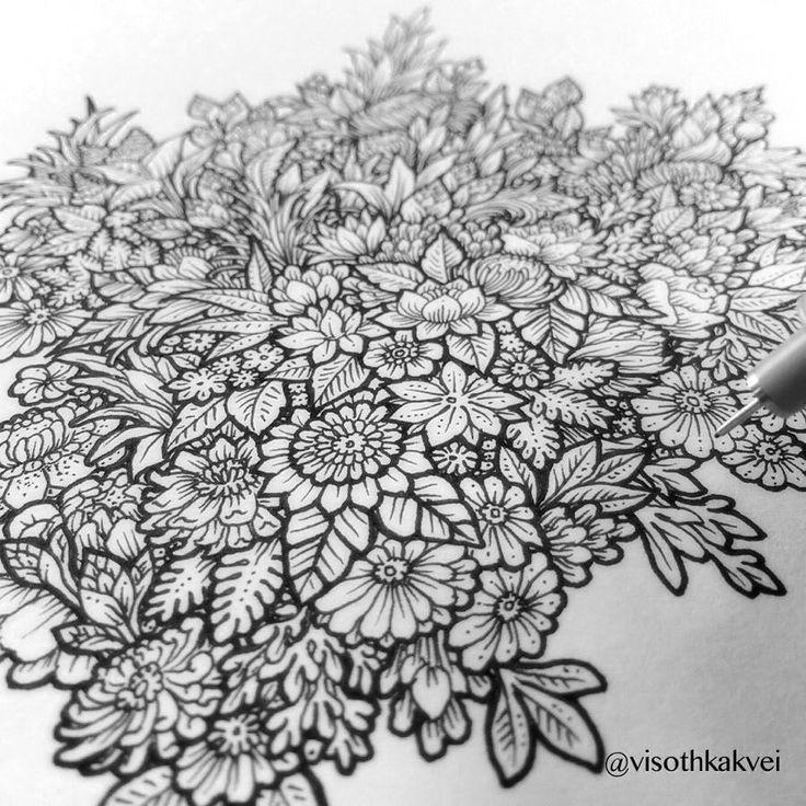 #art #flowers #original by visothkakvei