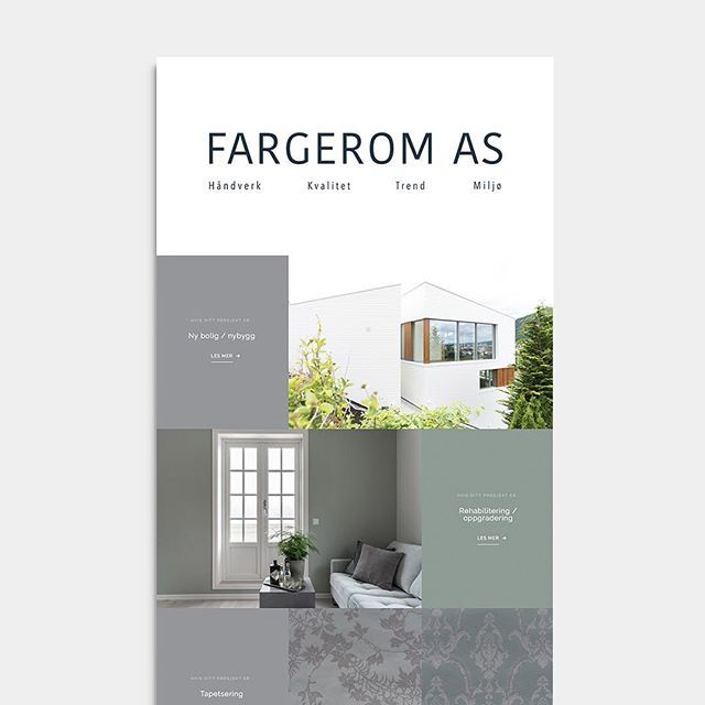 @fargerom.as finally makes its web debut ! It's all about color. What's your favorite color ? #checkitout #webdesign fargerom.com
