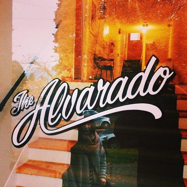 The Alvarado #typography #logo #design