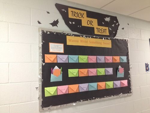 October Bulletin Board Trick Or Treat Write Something