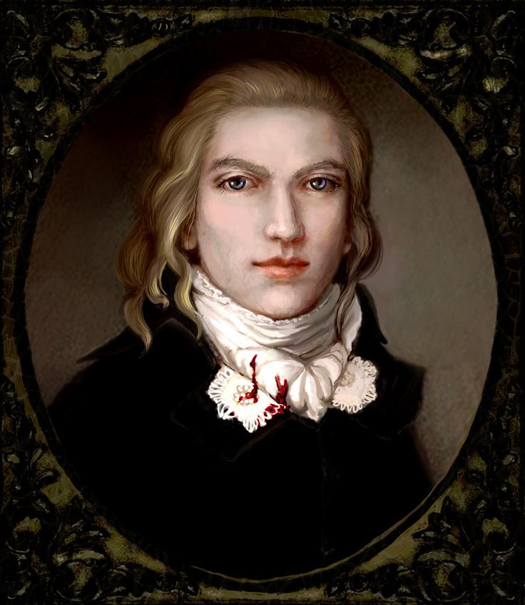 Lestat the Lioncourt ~ the fictional character appearing in several novels by Anne Rice, including The Vampire Lestat. He is a vampire who was the narrator & an antihero in the majority of 'The Vampire Chronicles'. Lestat - was born in France before the Revolution, as a poor noble.  This work inspired by XVIIIth century miniature portraits.  Painted by Zzoha