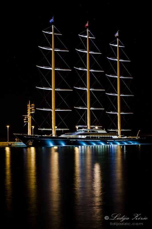 Maltese Falcon in the port of Split, Croatia