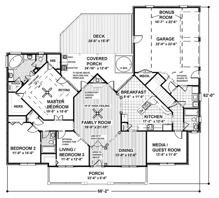256 best Floor plans images on Pinterest | Architecture, Dream ...