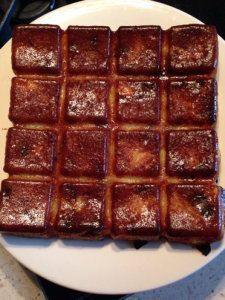 Gâteau invisible aux pommes et raisins secs