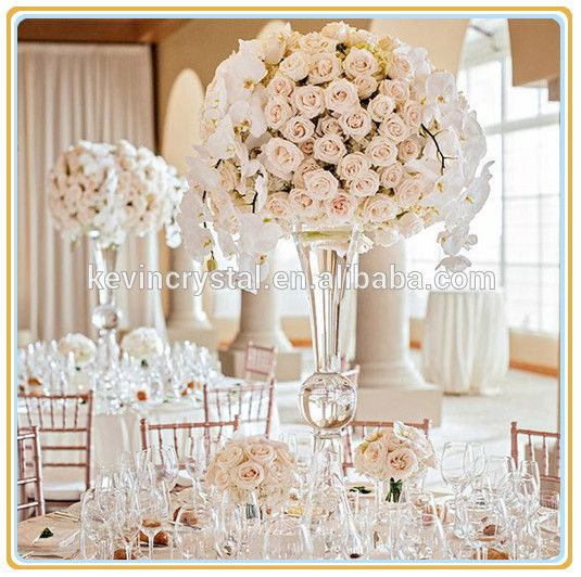 wedding centerpiece and flower stand vase,decoration for wedding tables flowers,tall glass vases for fresh flowers balls