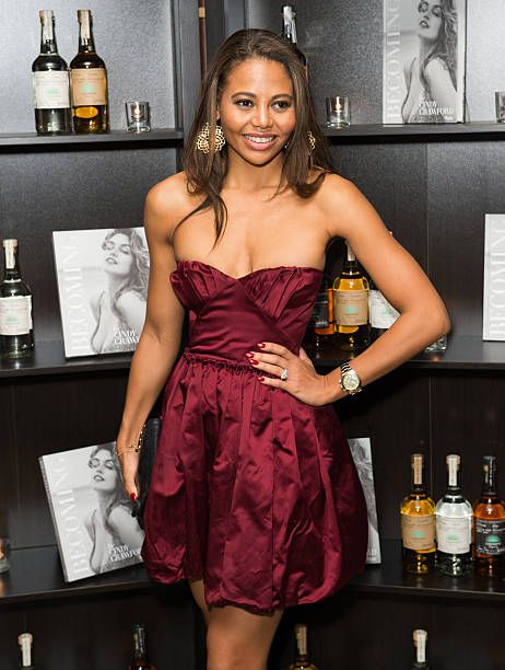 Emma McQuiston Viscountess Weymouth attends the Casamingos Tequila Cindy Crawford book launch party at The Beaumont Hotel on October 1 2015 in London...