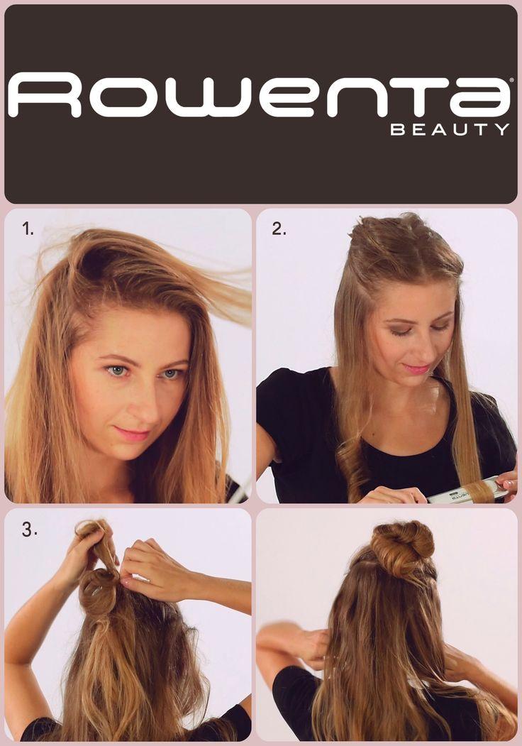 Kok samuraja  Krok 1. Unieś włosy od nasady przy pomocy VOLUM'24 Krok 2.  Zrób luźne fale, używając prostownicy RESPECTISSIM 7/7 Krok 3. Podziel włosy na dwie części, z górnej zrób koka samuraja #Respectissim #Rowenta #RowentaPolska #fryzura #włosy #hair #hairstyle #hotd #fryzjer #wlosomania #wlosomaniaczka #wlosomaniaczki #hairmania #hairgoals #haircolor #curls #waves #straightner #volum #wavy #straight #easy #tutorial #stepbystep