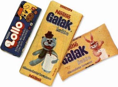Lollo e Galak nos anos 1980.
