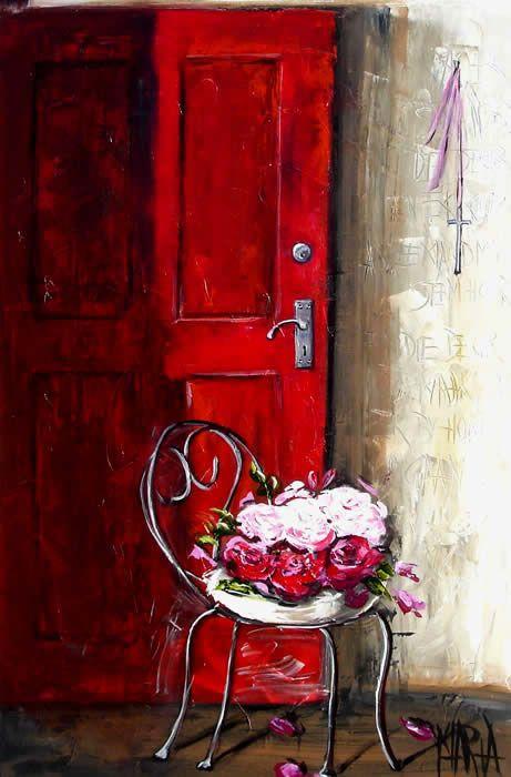 'The Red Door' by Maria Magdalena Oosthuizen (Arnelda)