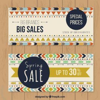 Big sales boho banner