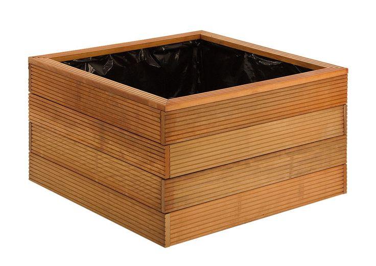 Blumenkasten flanzkasten bangkirai hartholz, direkt beim Importeur