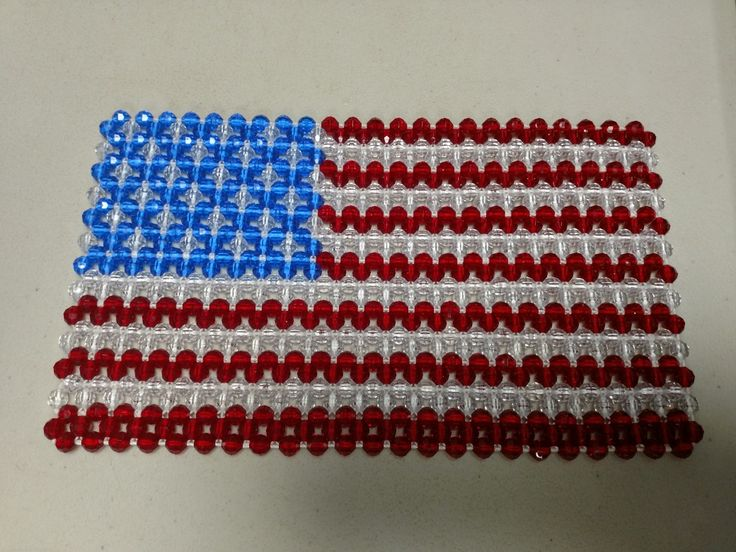 Beaded American Flag Order Now: tanyasbeadedtrivets@Gmail.Com