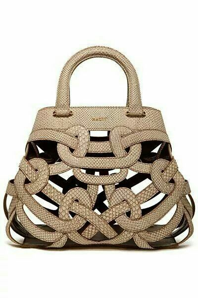 GABRIELLE'S AMAZING FANTASY CLOSET | Bally Sand Perforated Handbag