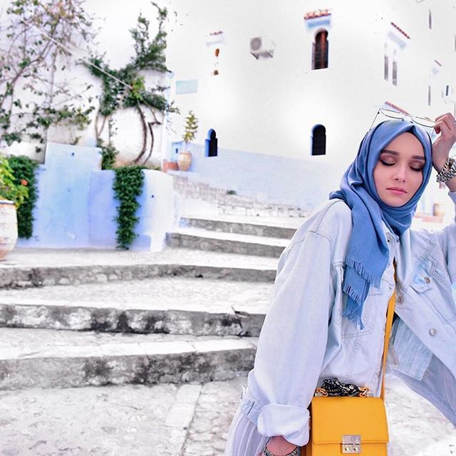 Голубая жемчужина Марокко  весь городок окрашен в голубые и белые цвета! Никогда не видела ничего похожего