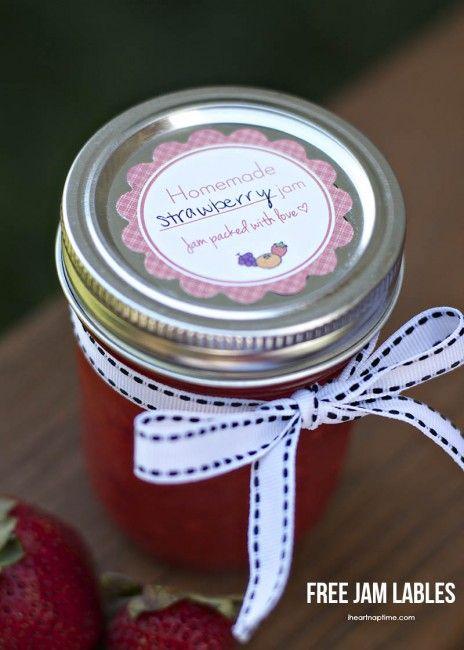 Free jam labels on iheartnaptime.com #homemadegifts