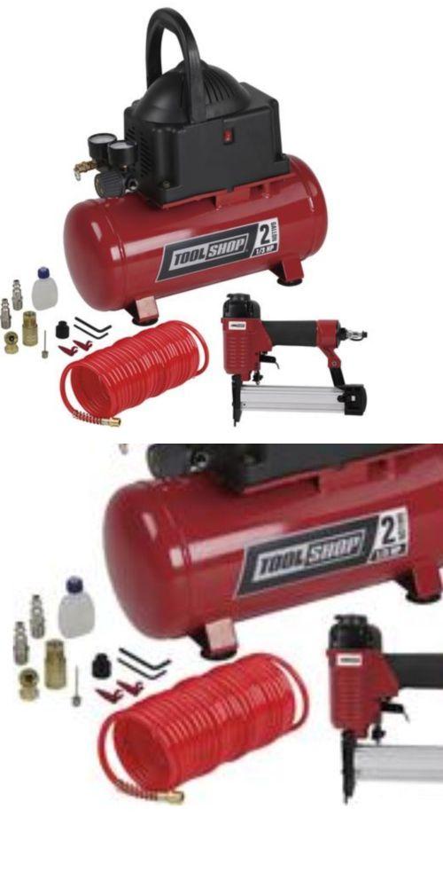 air tool sets 159927: tool shop 2 gallon air compressor combo kit ...