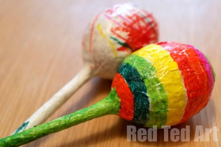 Fun Maracas Craft for Kids (and great this Easter.. can you guess what they are made from?!)