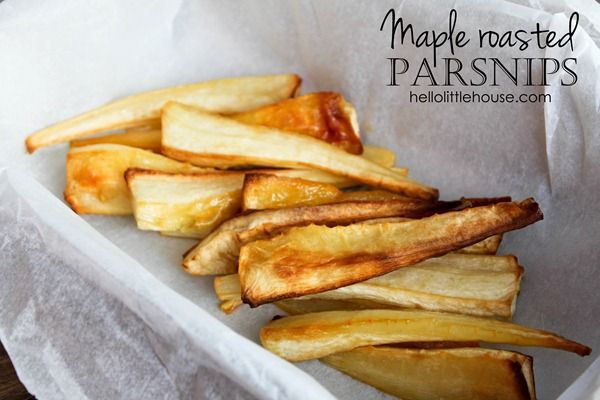 Maple roasted parsnips | CSA Recipes | Pinterest