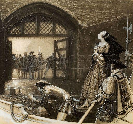 King Henry and Anne Boleyn   Anne Boleyn arriving at the Tower of London by John Millar Watt