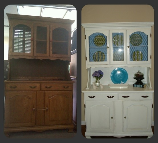 Hutch Makeover Before And After Thrift Stores