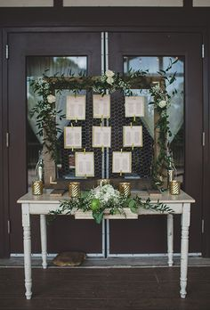 Wire Frame Wedding Seating Chart and Escort Card Display | Brides.com