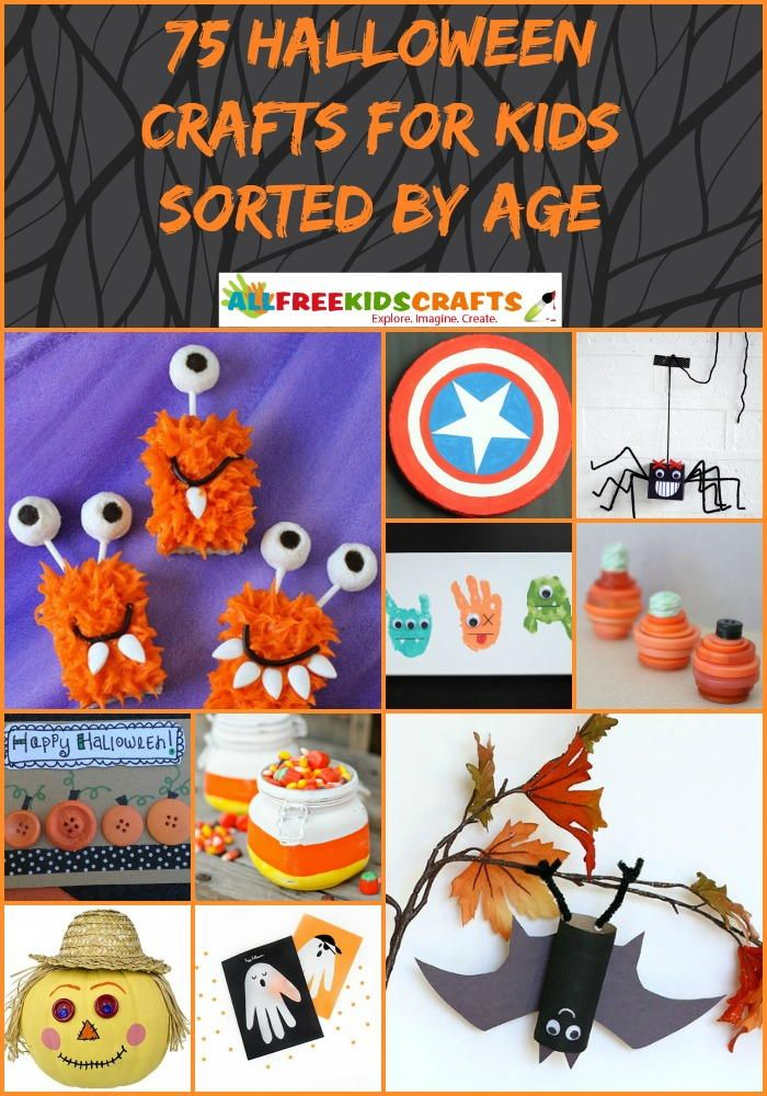 Fall Halloween Craft Ideas Part - 15: 75 Halloween Crafts For Kids Sorted By Age