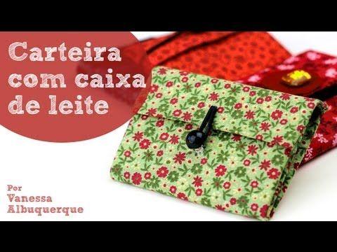 Carteira de caixa de leite. Por Revista Artesanato. http://www.youtube.com/watch?v=xGhabtvrHUY