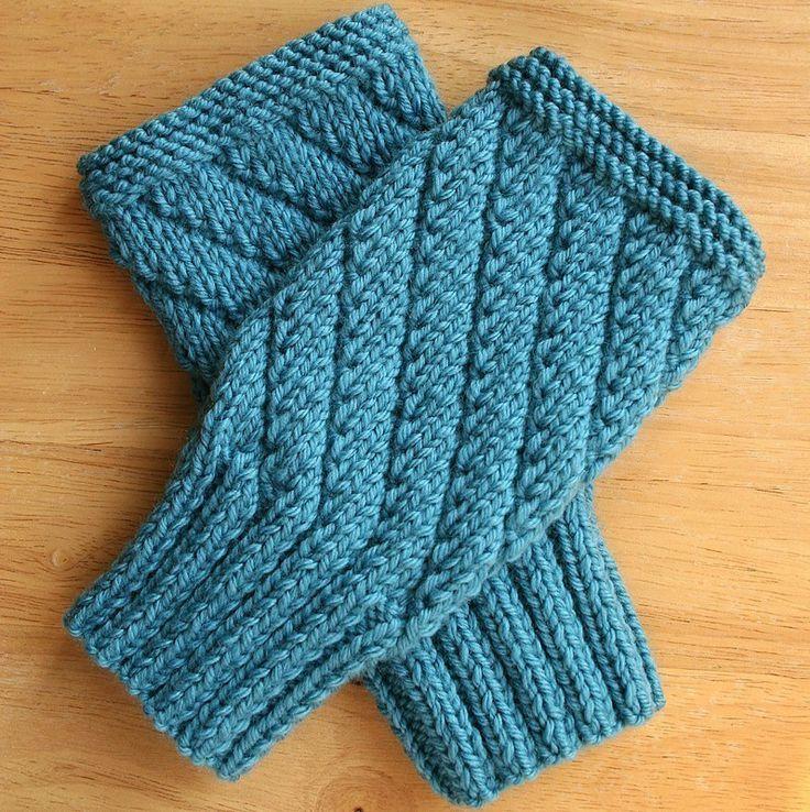 Gloves Knitting Pattern Pinterest : Fingerless Gloves KNITTING - MITTENS/FINGERLESS Pinterest Crafts, Knitt...