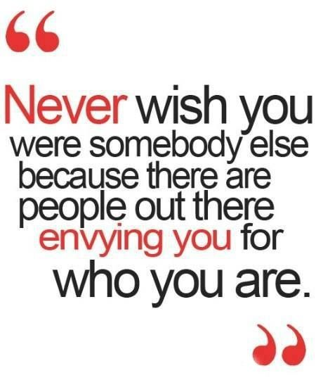 Be you!
