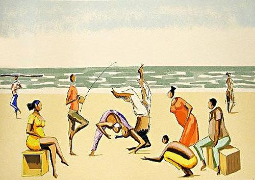 Capoeira na praia - Carybé