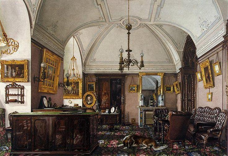 Interiors of the Winter Palace. The Study of Grand Prince Nikolai Nikolayevich