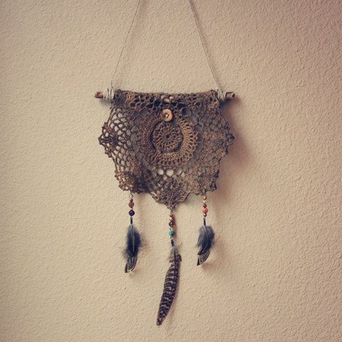 made by roots and feathers on etsy. #dreamcatcherLace