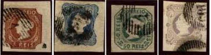 Portugal, erste Briefmarken, 1853