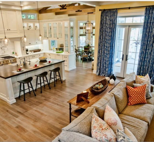 Open Plan Country Kitchen: Country And Kitchens