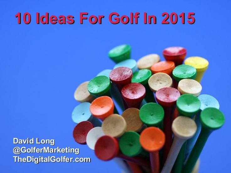 Inspired by a conversation I had with someone working on the delivery of the Ryder Cup in France, here are 10 ideas for golf in 2015 addressing the issue of fa…