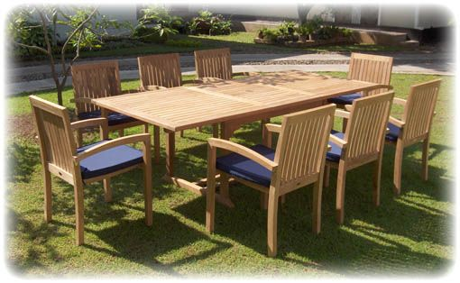 The 'classic' teak patio furniture look I would like for our deck.