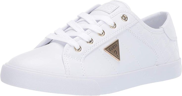 Amazon Com Guess Women S Comly Sneaker White 8 M Us Shoes Chaussures Guess Sneakers Baskets Guess