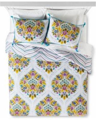 Boho Boutique Indie Flower Duvet Cover Set King - Multicolor - Boho Boutique from Target   BHG.com Shop